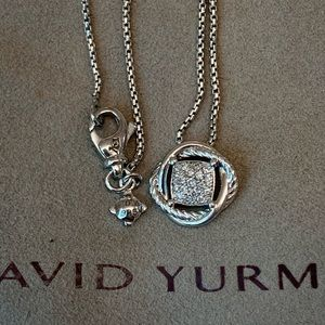 David Yurman Authentic Infinity Diamond Necklace